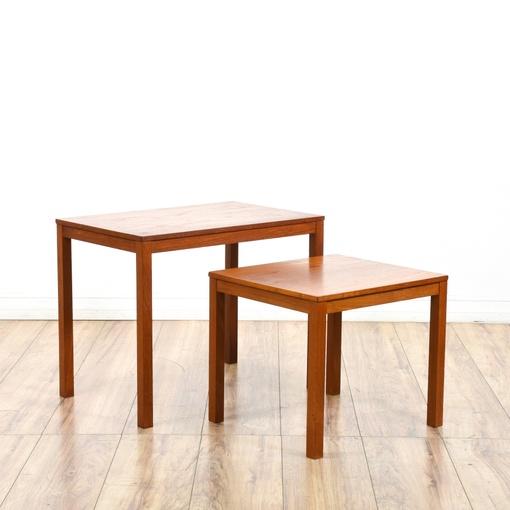 2 danish modern nesting tables loveseat vintage for Danish modern la