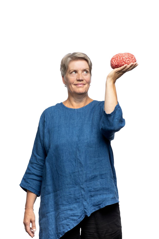 Lena Stenvall, föreläsare, Effekten av affekten på Västerbottensteatern hösten 2019. Foto: Patrick Degerman.