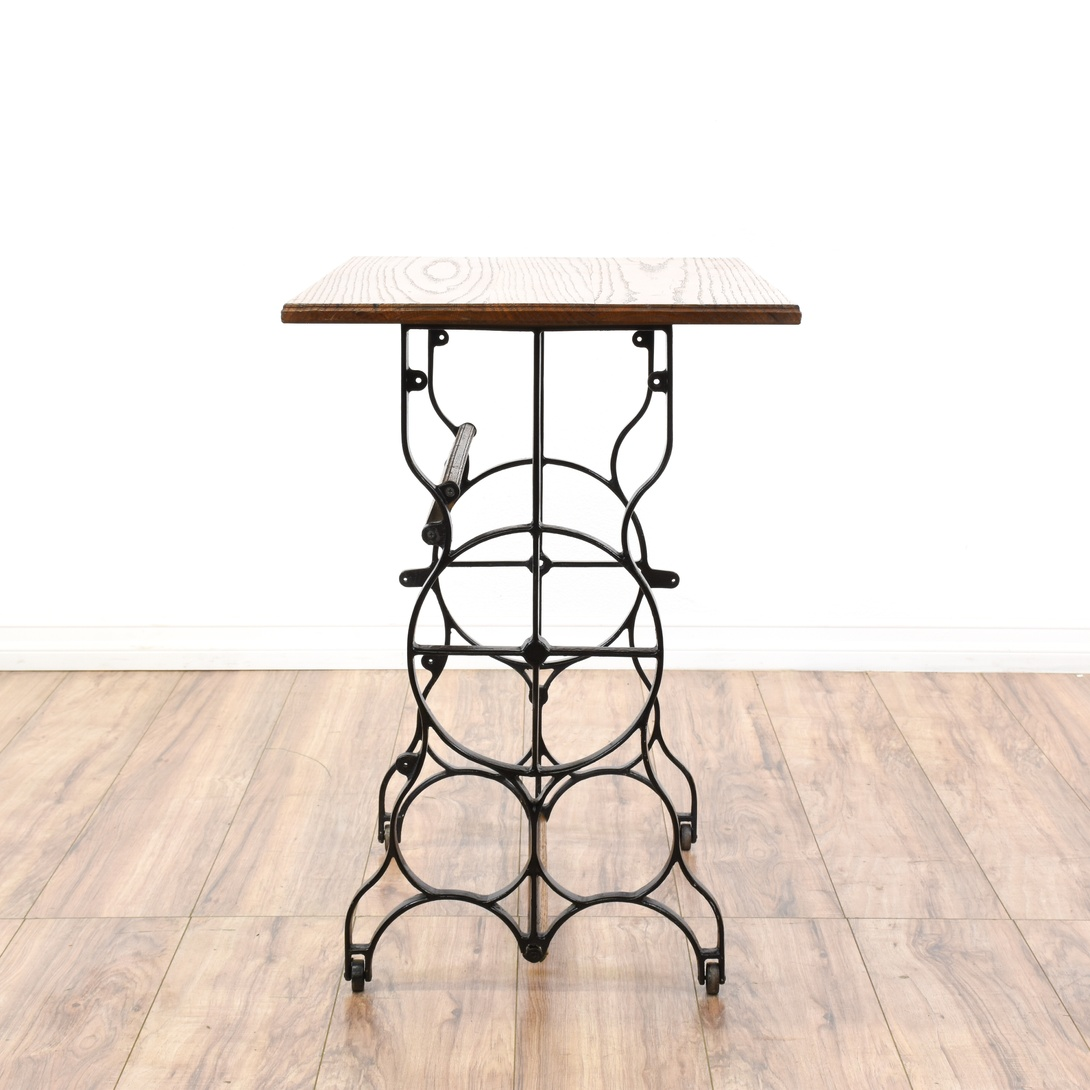 Wrought Iron Oak Console Side Table Loveseat Vintage Furniture San Diego Los Angeles