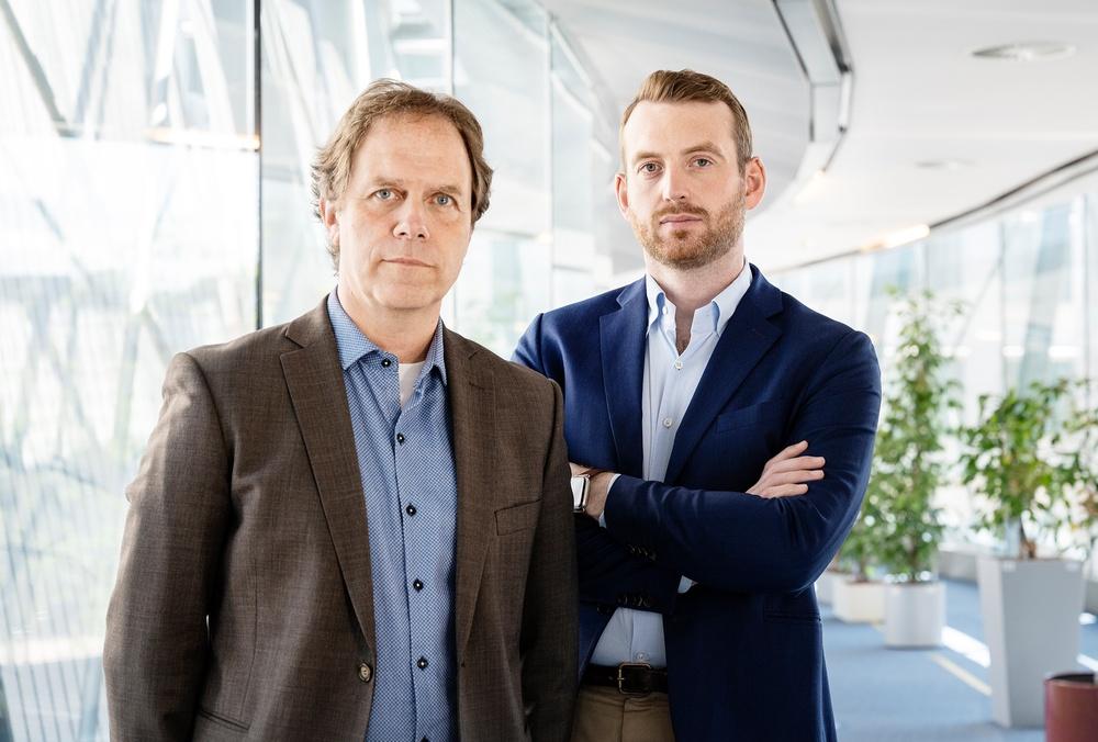 Miljöpartiets EU-parlamentariker Pär Holmgren och Jakop Dalunde