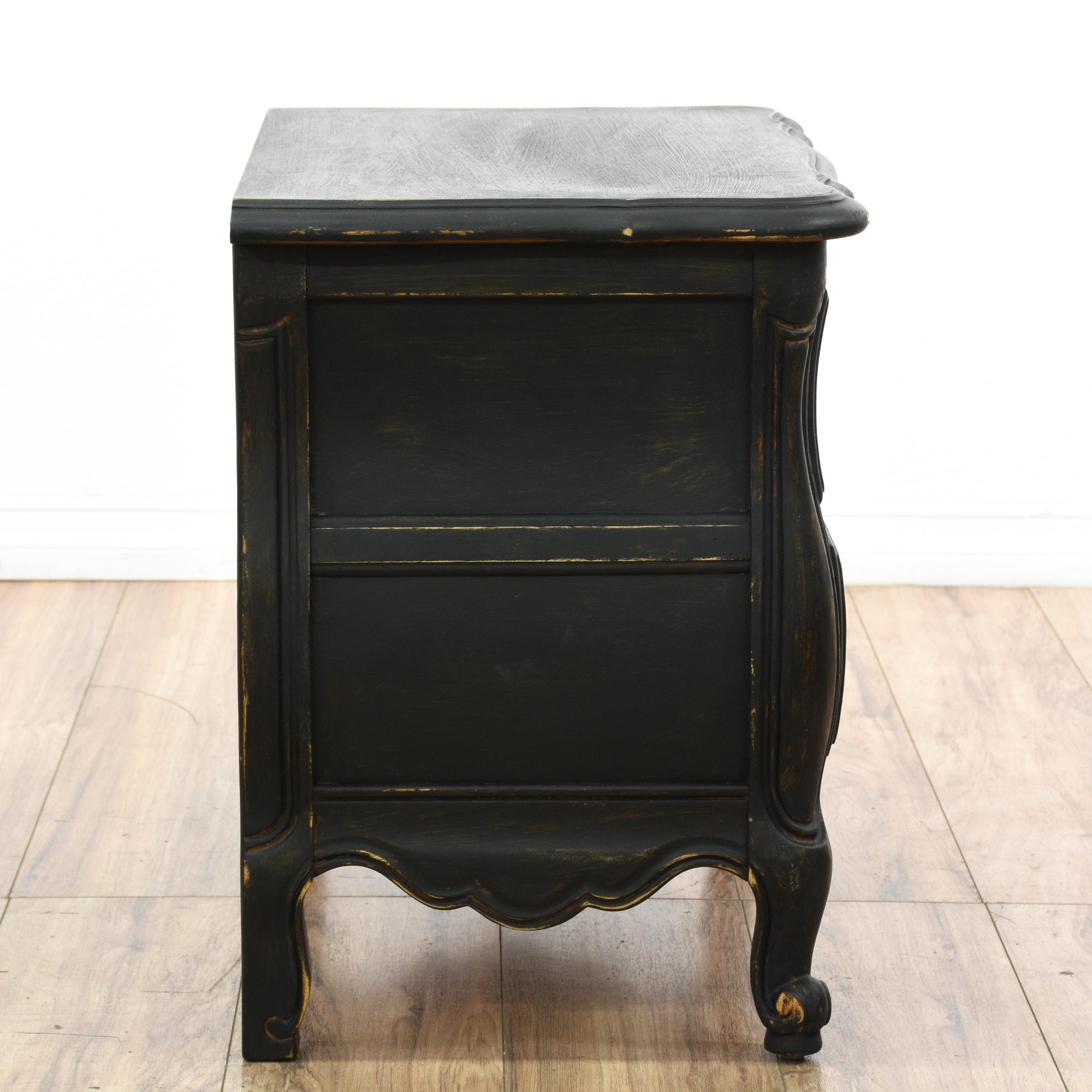 dark shabby chic nightstand loveseat vintage furniture. Black Bedroom Furniture Sets. Home Design Ideas