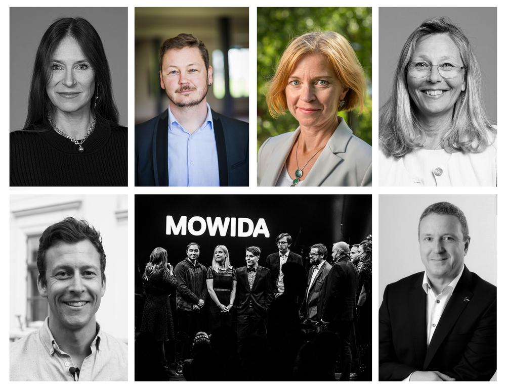 Lena Fridlund Forsgren, Marcus Bodin, Karin Bodin, Maria Hedblom, Rickard Nyberg, Anders Andersson och Mowida vid prisutdelningen på Umeågalan