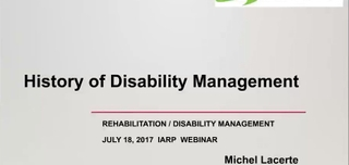 History of Disability Management