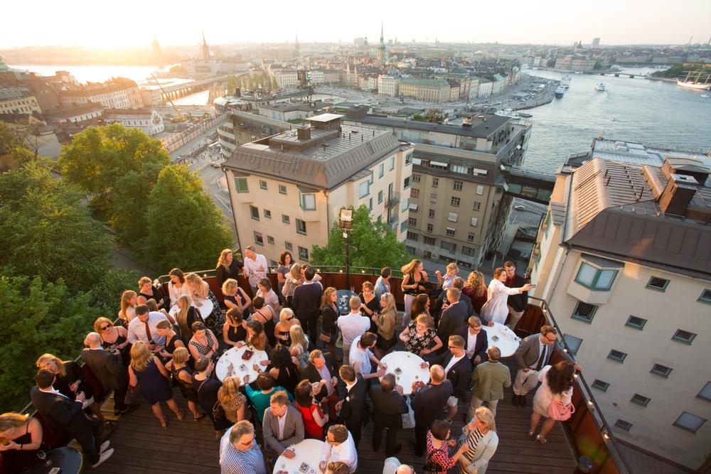Utsikt Champagnebaren Södra Teatern