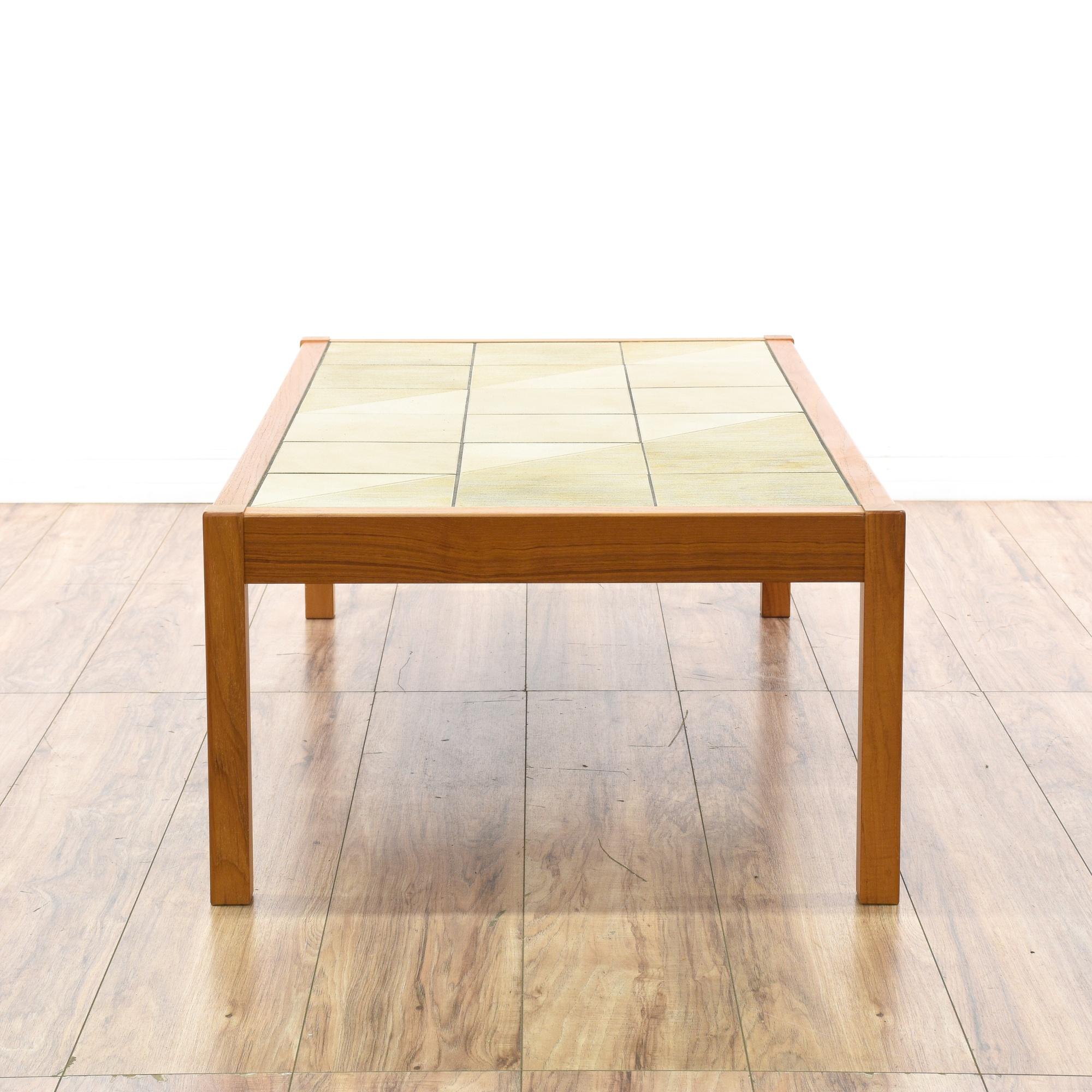 Gangso Danish Modern Tile Top Coffee Table Loveseat Vintage Furniture San Diego Los Angeles