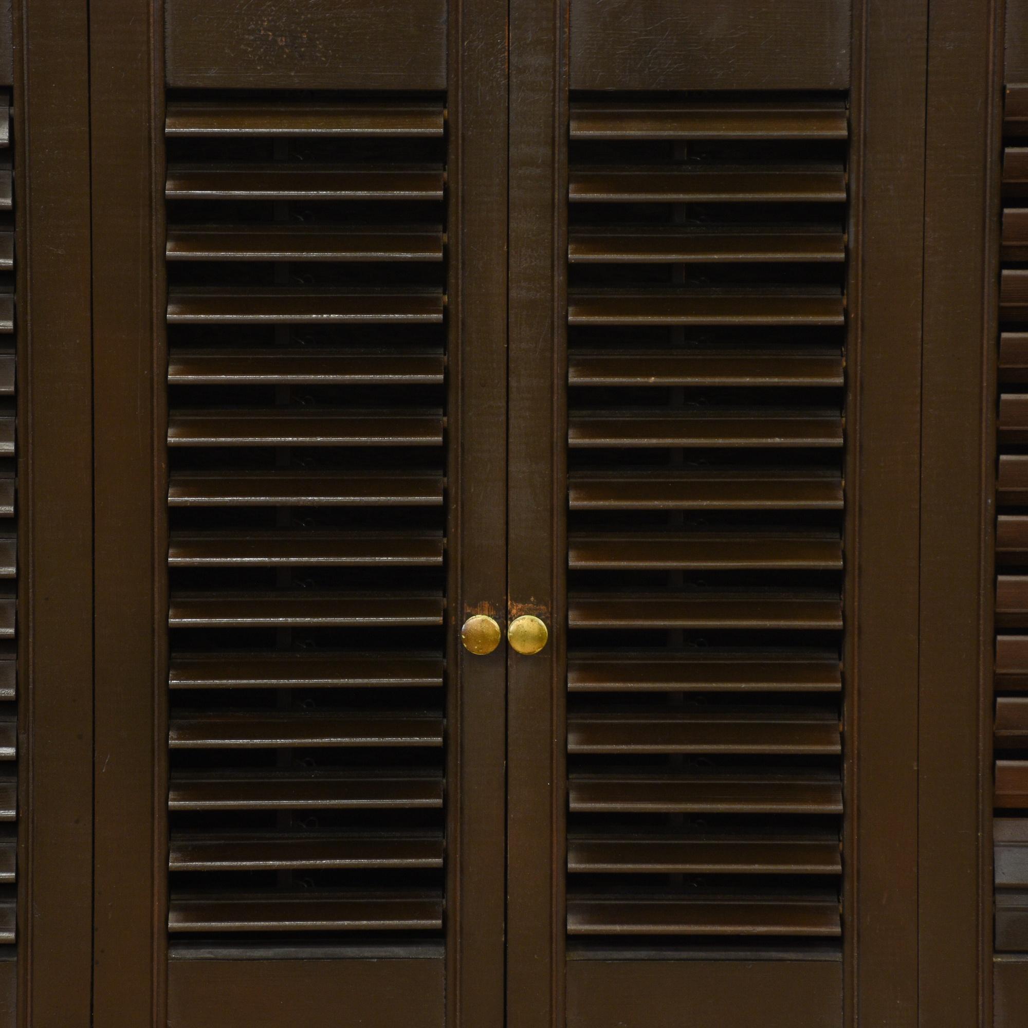 Mid Century Modern Shutter Front Cabinet Loveseat Vintage Furniture San Diego Los Angeles