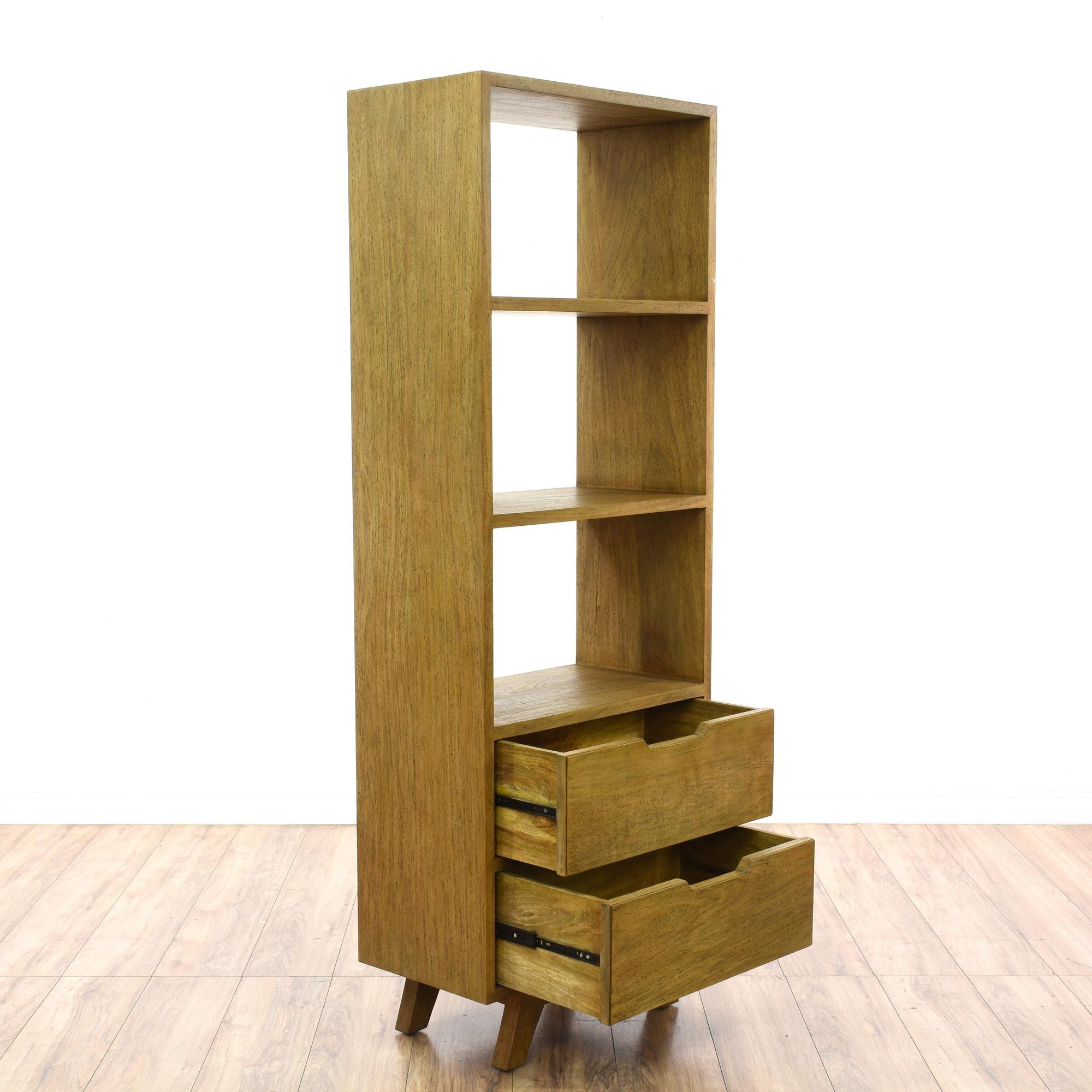 mid century modern style bookcase w drawers loveseat vintage furniture san diego los angeles. Black Bedroom Furniture Sets. Home Design Ideas