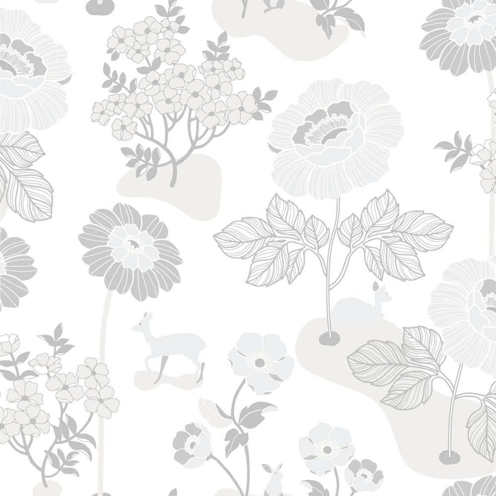 398-01 Blomsteräng silver