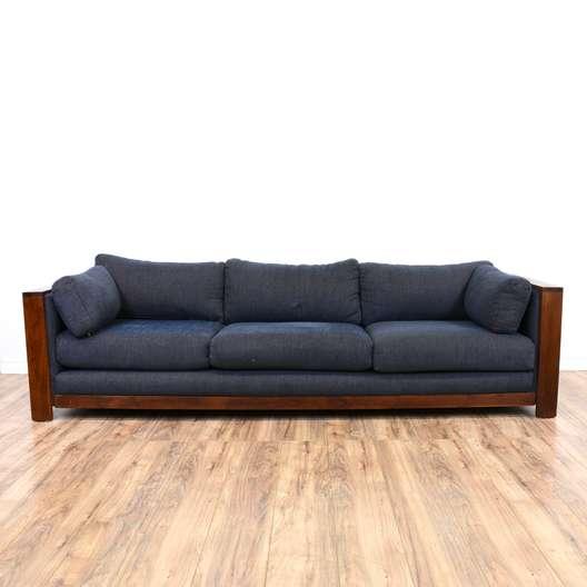 Blue Mahogany Sofa Couch