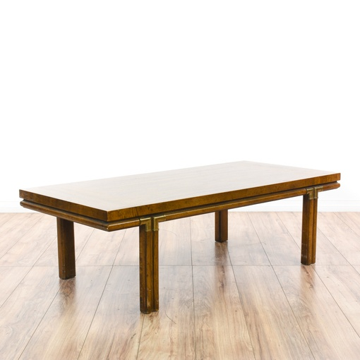 """Vintage Mid Century Drexel Surfboard Coffee Table: """"Drexel Heritage Accolade"""" Campaign Coffee Table"""