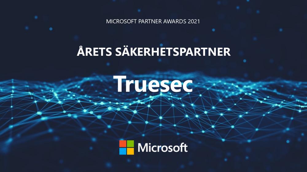 Truesec utsedd till årets säkerhetspartner av Microsoft