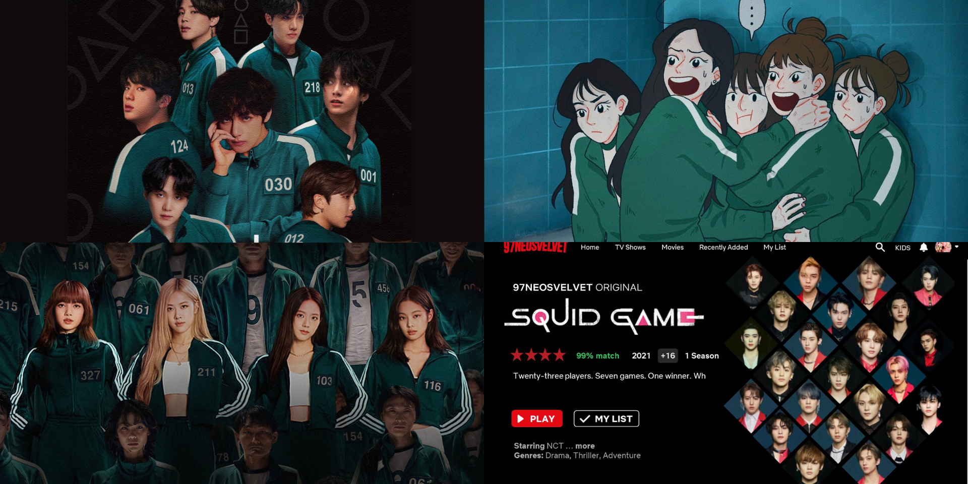 K-pop fans reimagine their favourite idols in Squid Game – BTS, Red Velvet, NCT, BLACKPINK, and more
