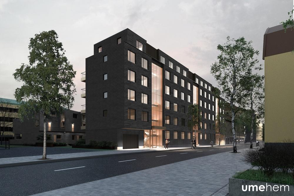 Illustration av kvarteret Rind i Umeå