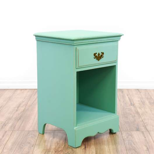 Teal Blue Shabby Chic Nightstand