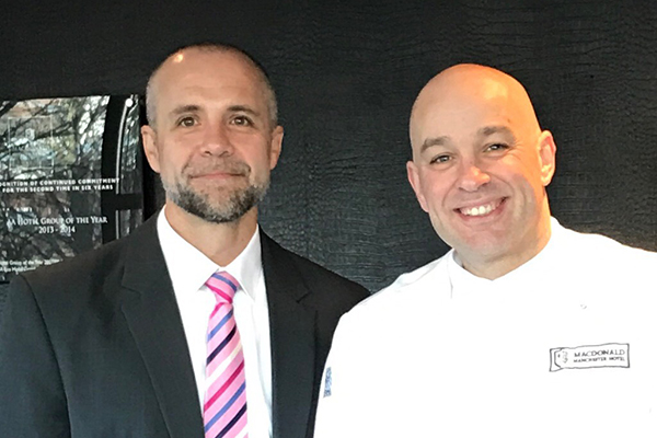 Johan Scheepers with exec chef Jason Littlejohn