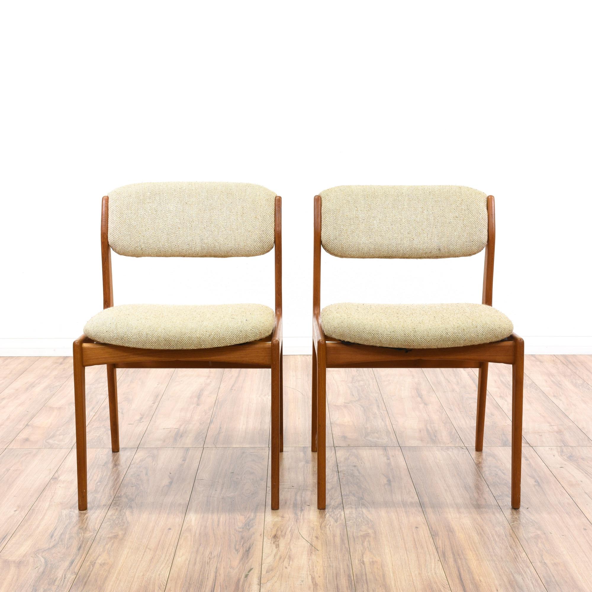 Pair of benny linden danish modern dining chairs for Danish modern la