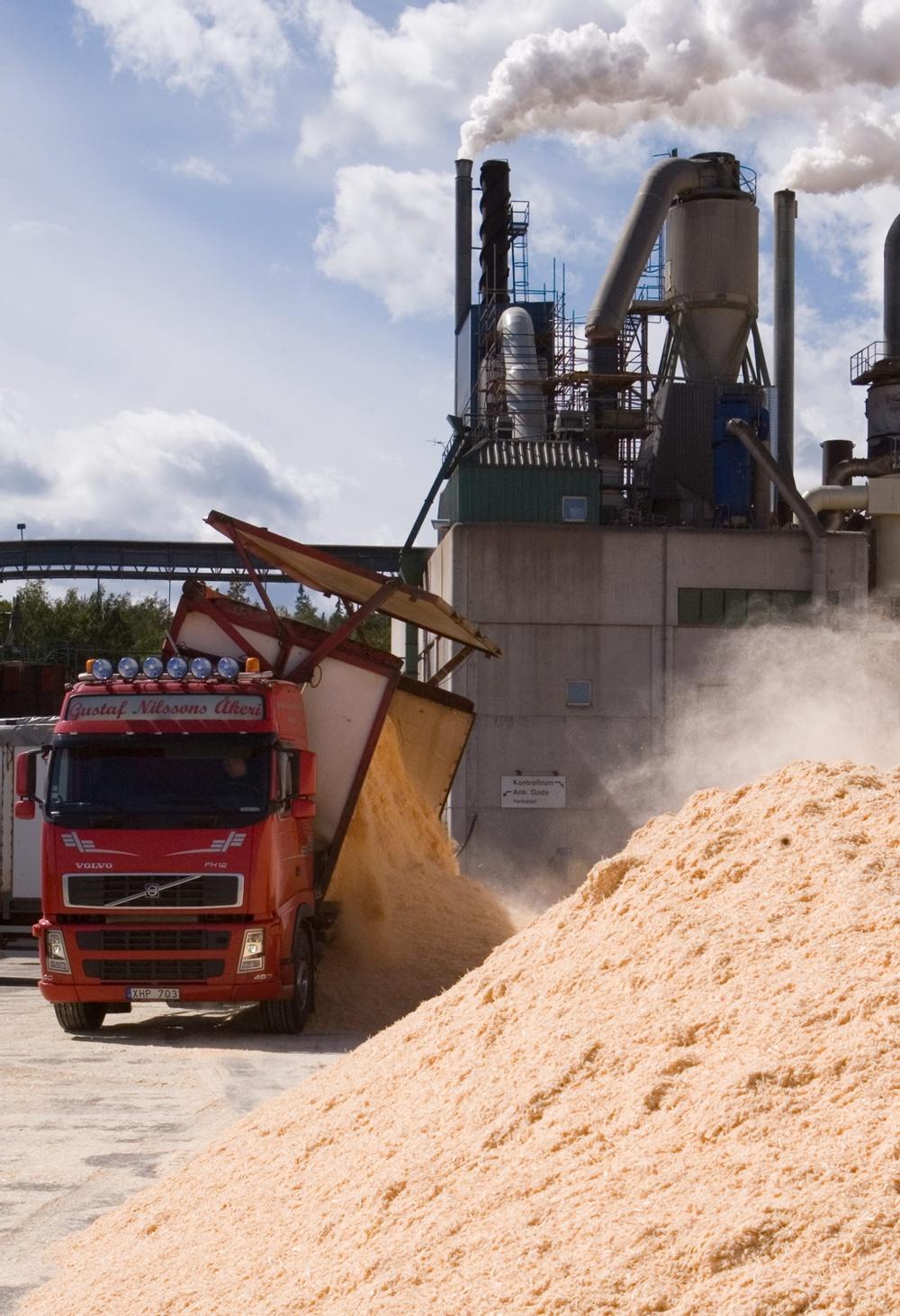 Härnösands pelletsfabrik. Foto: Juliana Yondt