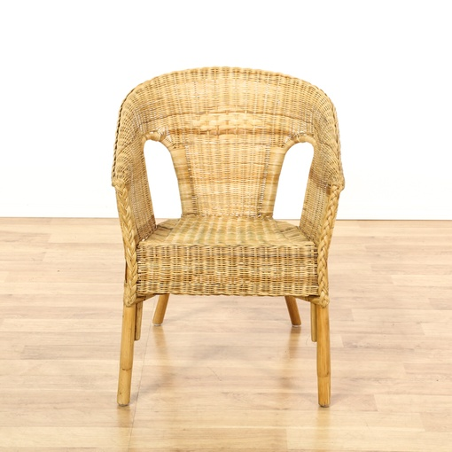 Barrel Back Wicker Chair Loveseat Vintage Furniture San