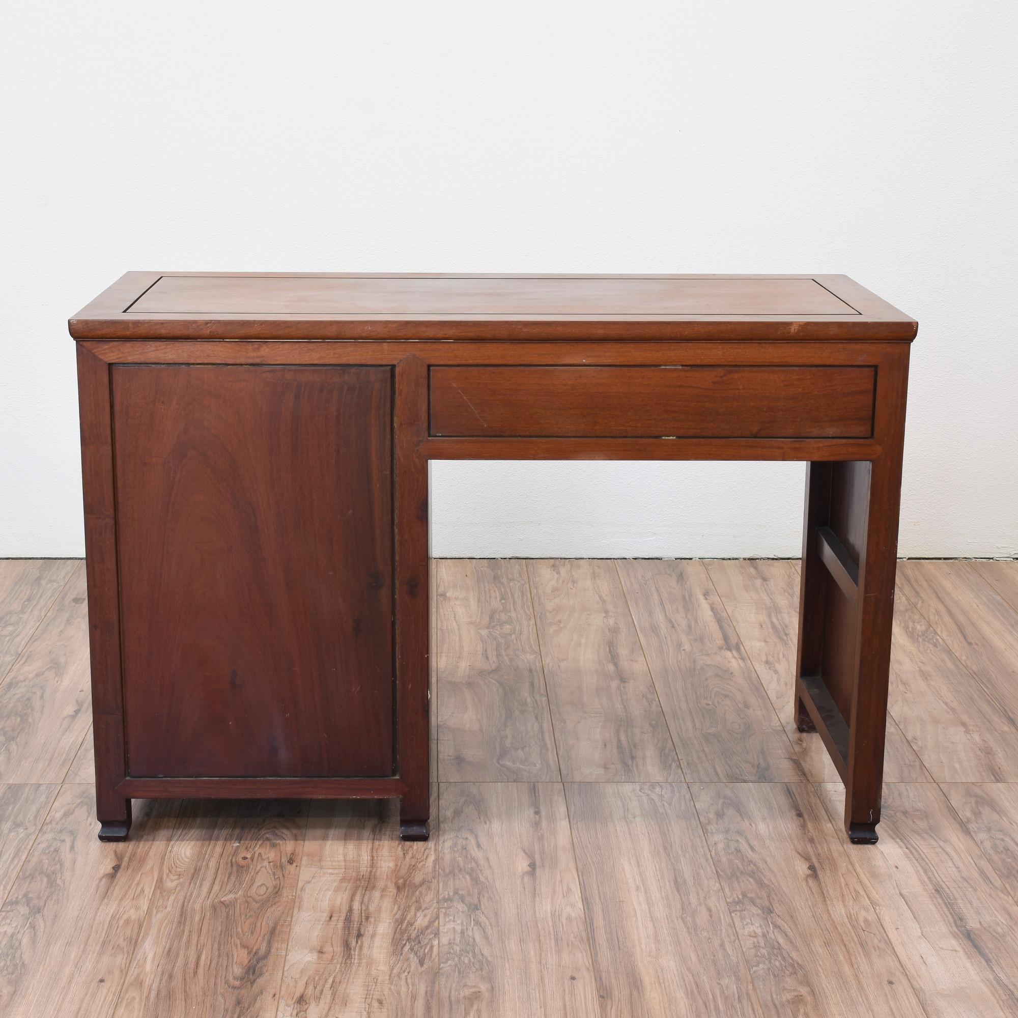 Oriental Rosewood Desk Loveseat Vintage Furniture San