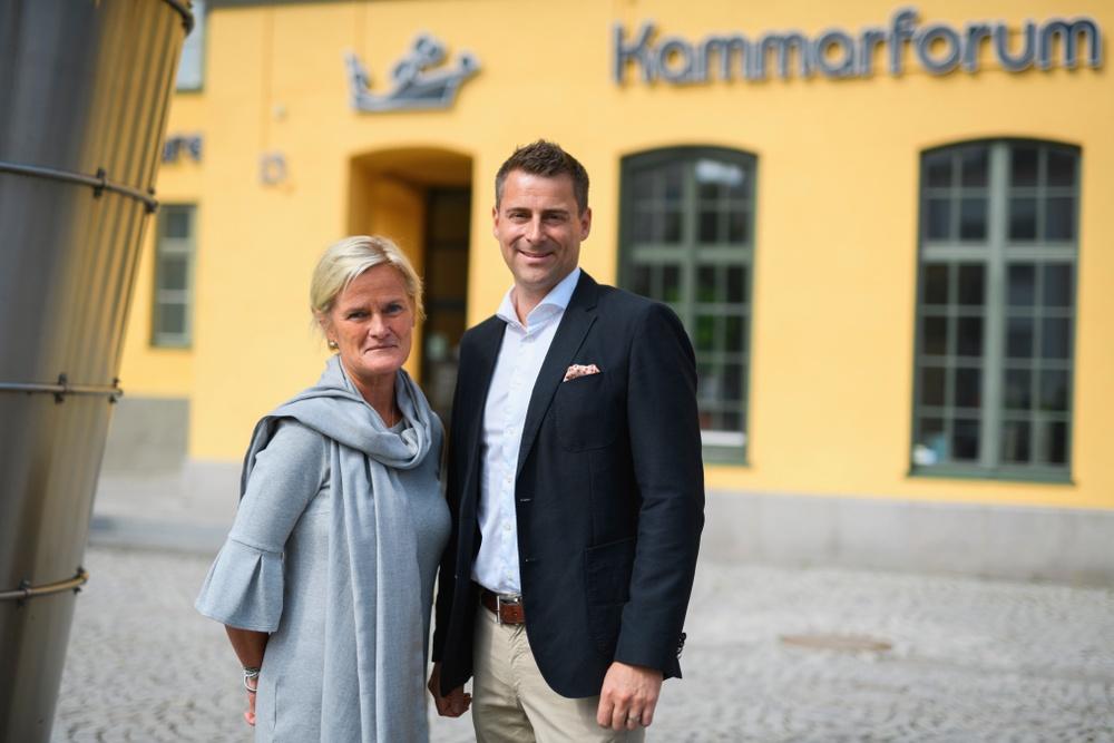 Karin Ljungmark Malmström, ordförande Östsvenska Handelskammaren och Christian Berger, tillträdande vd Östsvenska Handelskammaren
