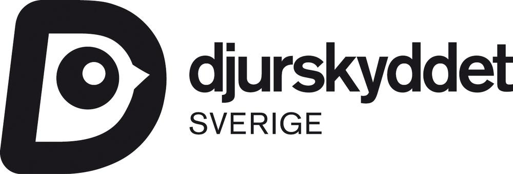 Djurskyddet Sveriges logotype i svart.
