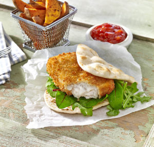 Youngs Foodservice crispy fish fillet burger