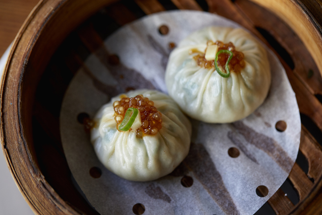 Shanghai steamed dumpling with pickled tapioca