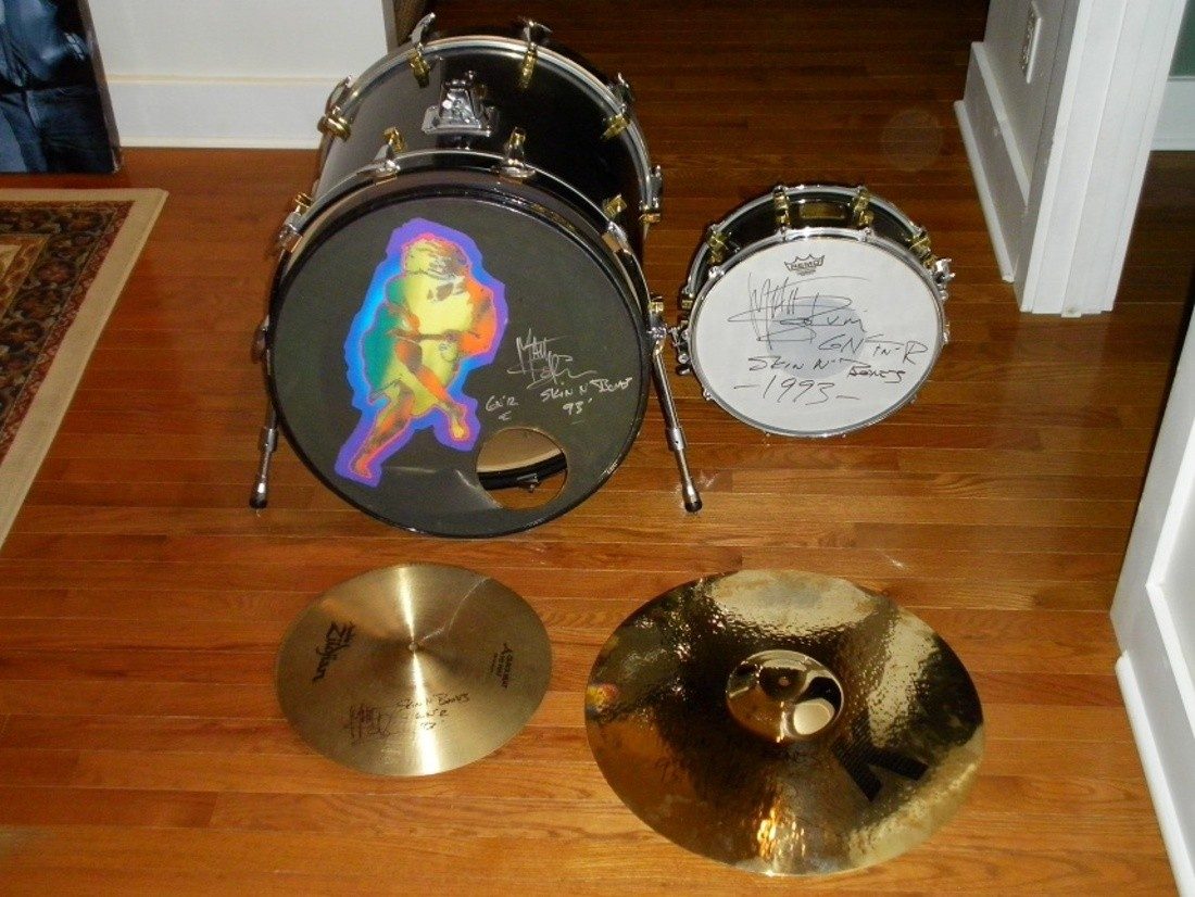 Guns N Roses Matt Sorum Drum Kit 1993 Skin N Bones Tour One Of A