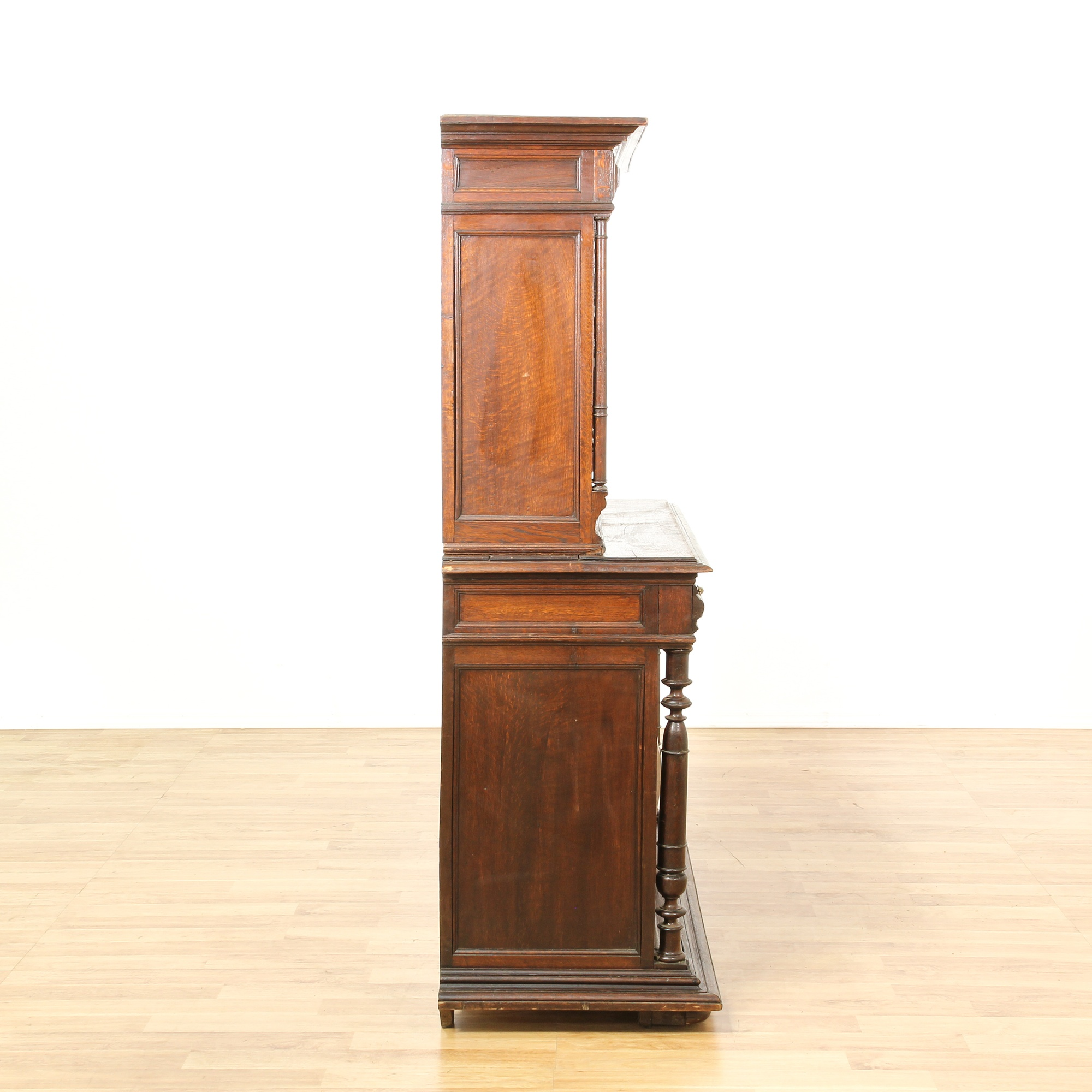 antique carved european two piece cabinet armoire loveseat vintage furniture san diego los. Black Bedroom Furniture Sets. Home Design Ideas