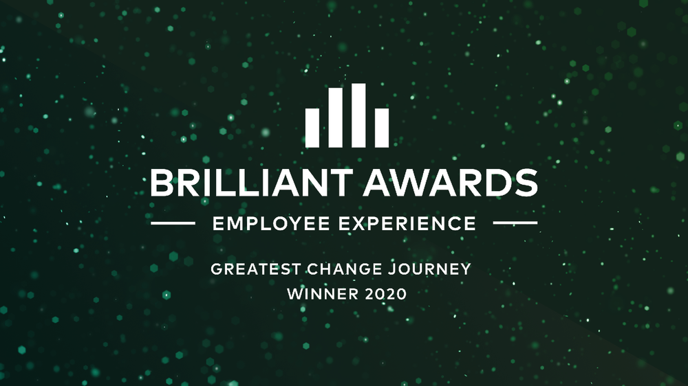 Brilliant Awards - Greatest change journey