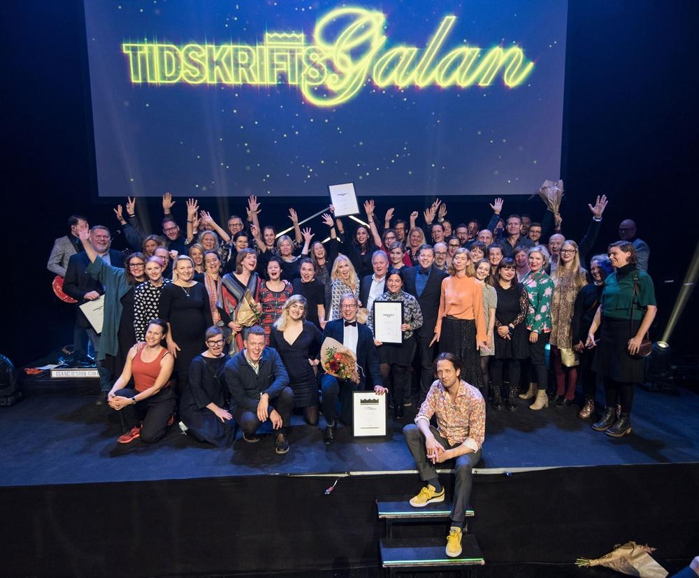 Vinnarna av Tidskriftspriset 2018 –Foto Anette Persson