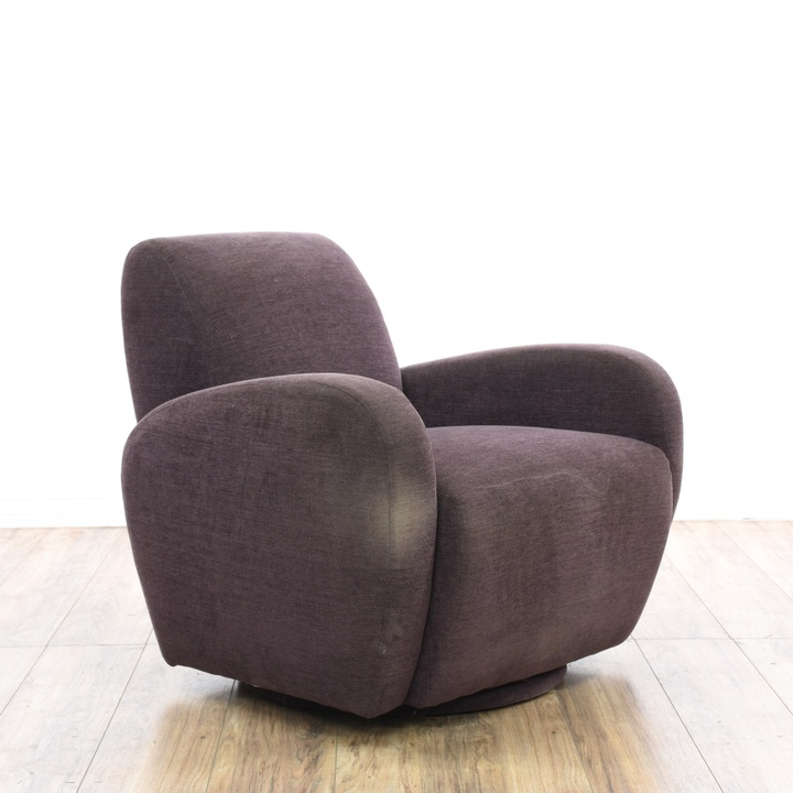 Pair Of Beige Contemporary Curved Armless Chairs
