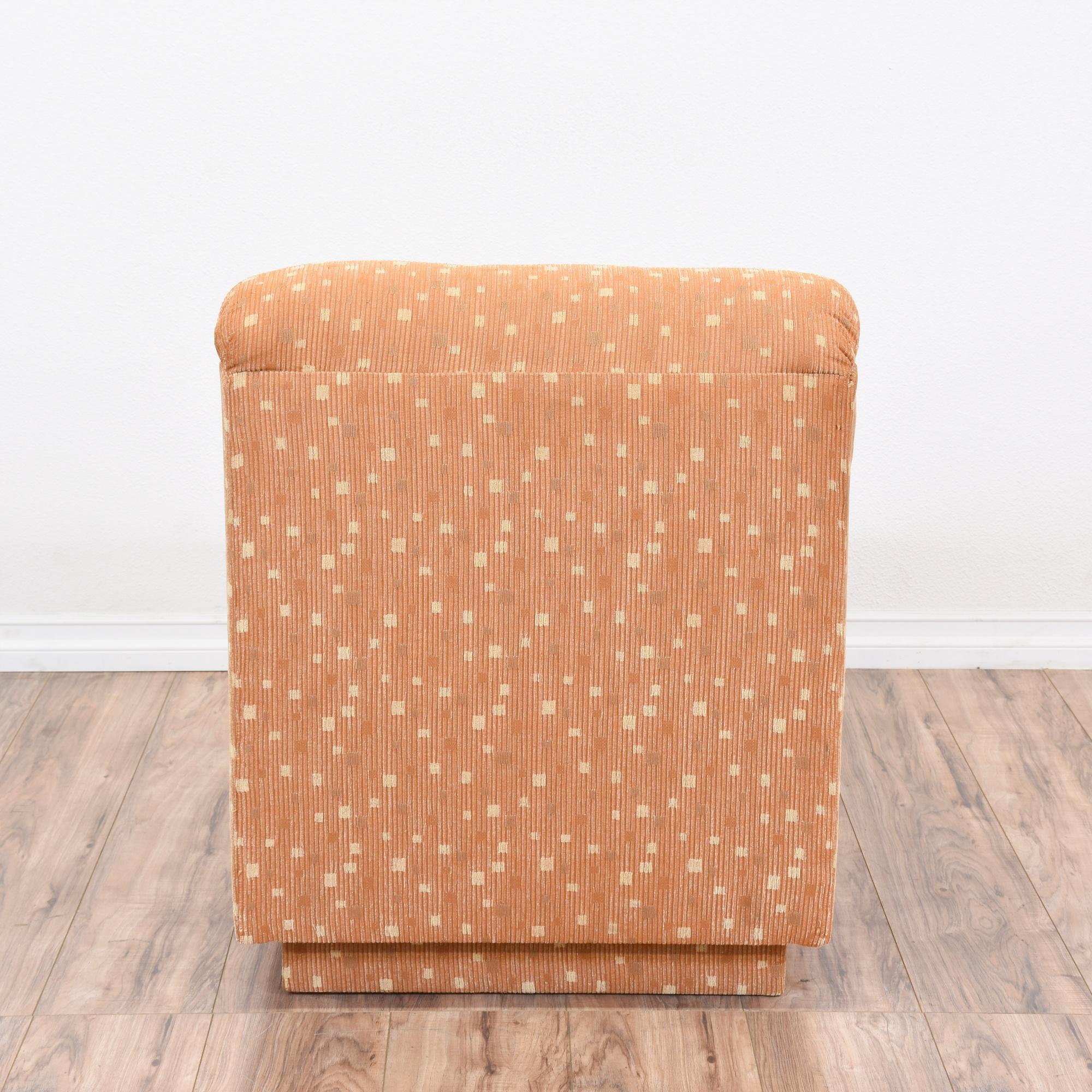 Pair Of Retro Modular Orange Sofa Chairs