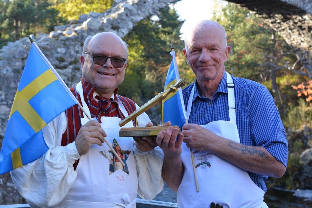 Vinnarna i Gröt VM 2018 i Skottland. Calle Myrsell och Per Carlsson