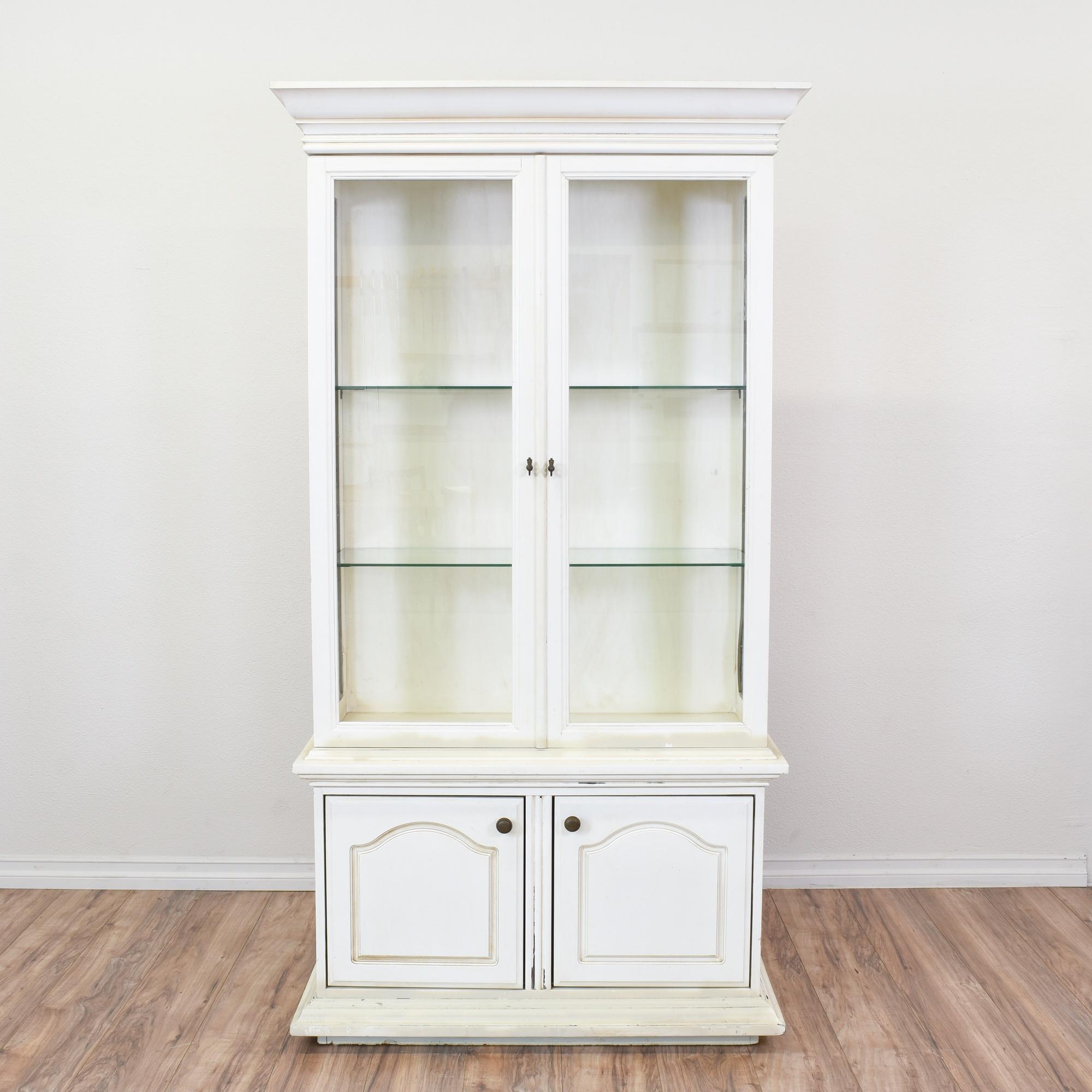 white glass furniture. White Glass Furniture. China Cabinet Display Case | Loveseat Vintage Furniture San Diego