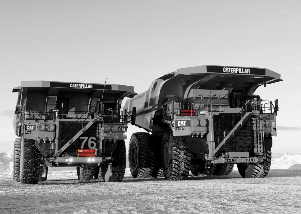 Mining vehicles equipped with Dafo Vehicle Fire Suppression system