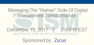 "Managing The ""Human"" Side Of Digital Procurement Transformation"