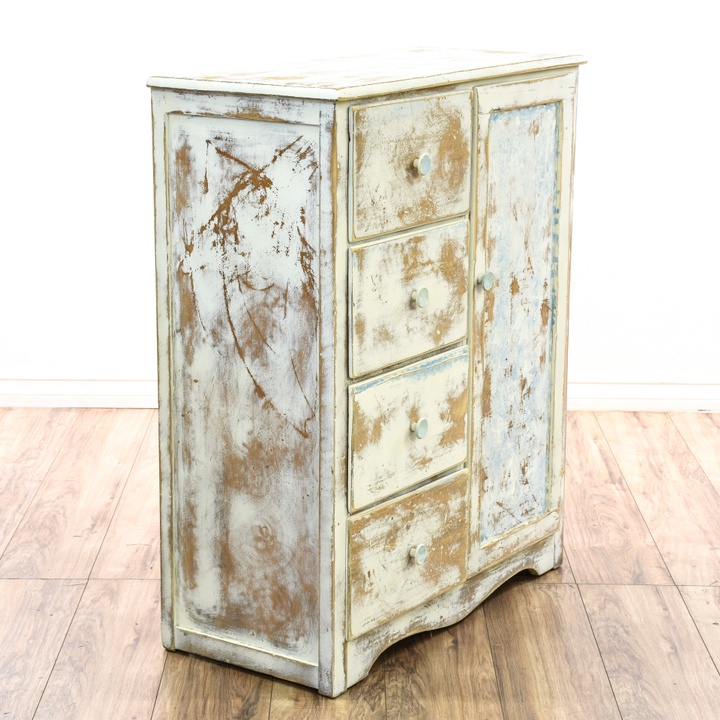 shabby chic white armoire w 4 drawers loveseat vintage furniture san diego. Black Bedroom Furniture Sets. Home Design Ideas