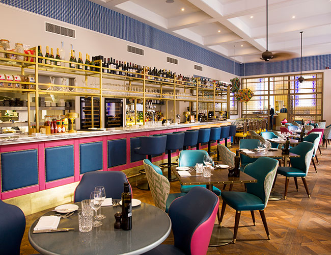 The Jetty restaurant and bar at the Bristol Harbour hotel