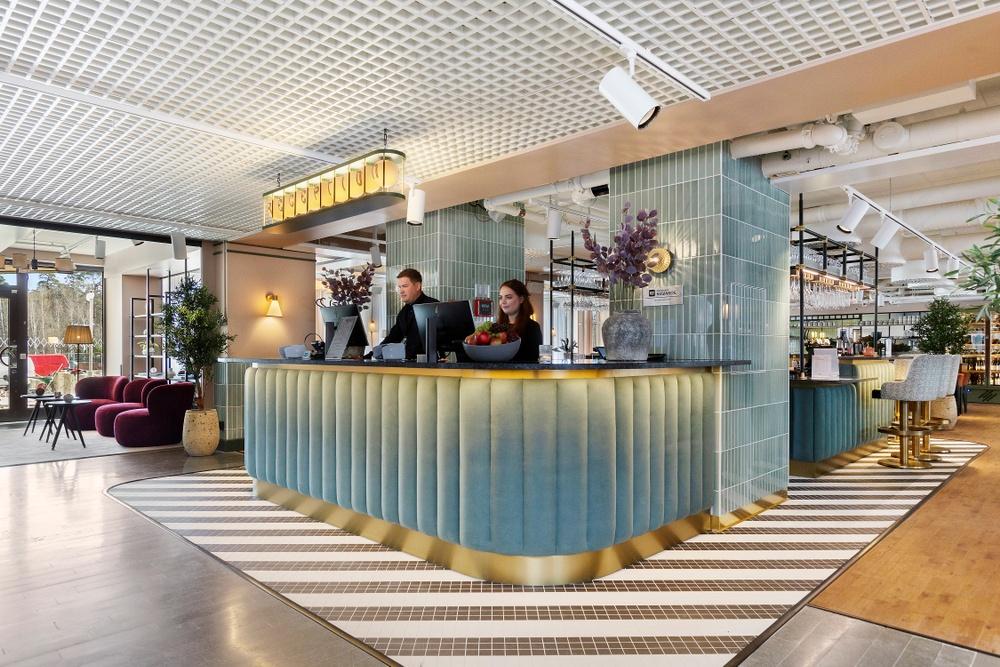 Hotel Giòs entré är också början på restaurang Mama Giò.