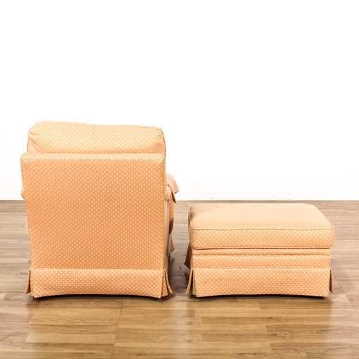Quot Henredon Quot Cottage Chic Pink Peach Chair Amp Ottoman