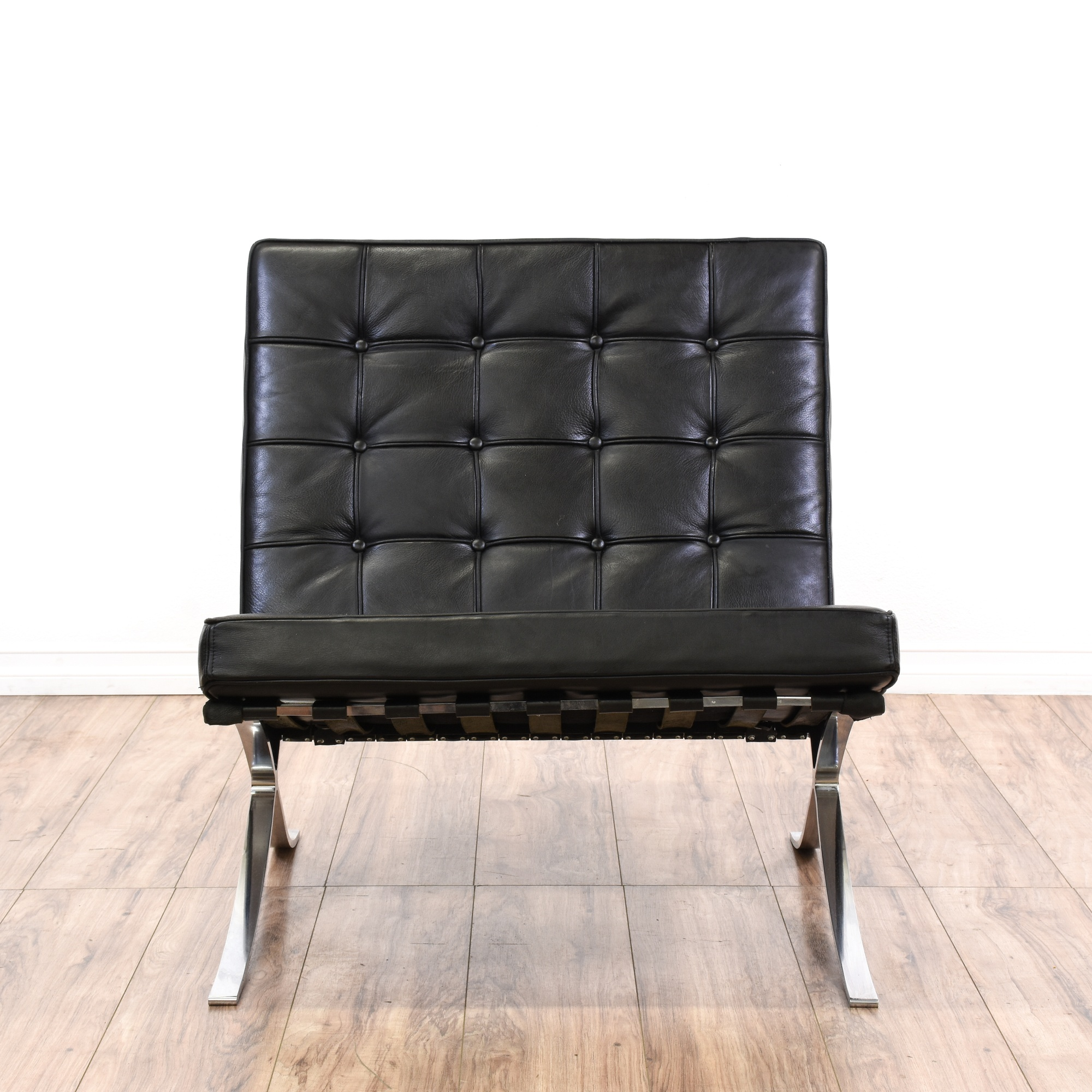 Barcelona Chair Style Ludwig Mies Van Der Rohe Style Barcelona Chair Loveseat Vintage