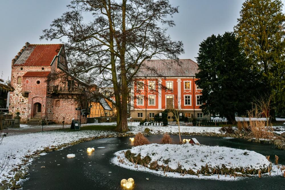 Vinter i friluftsmuseet på Kulturen i Lund. Foto: Viveca Ohlsson/Kulturen