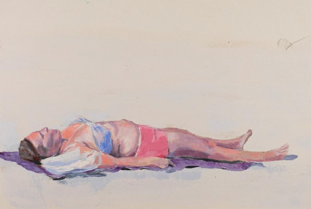 Pontus Raud Tänker på allt som ska göras, 2018 Pastell, 30 x 40 cm