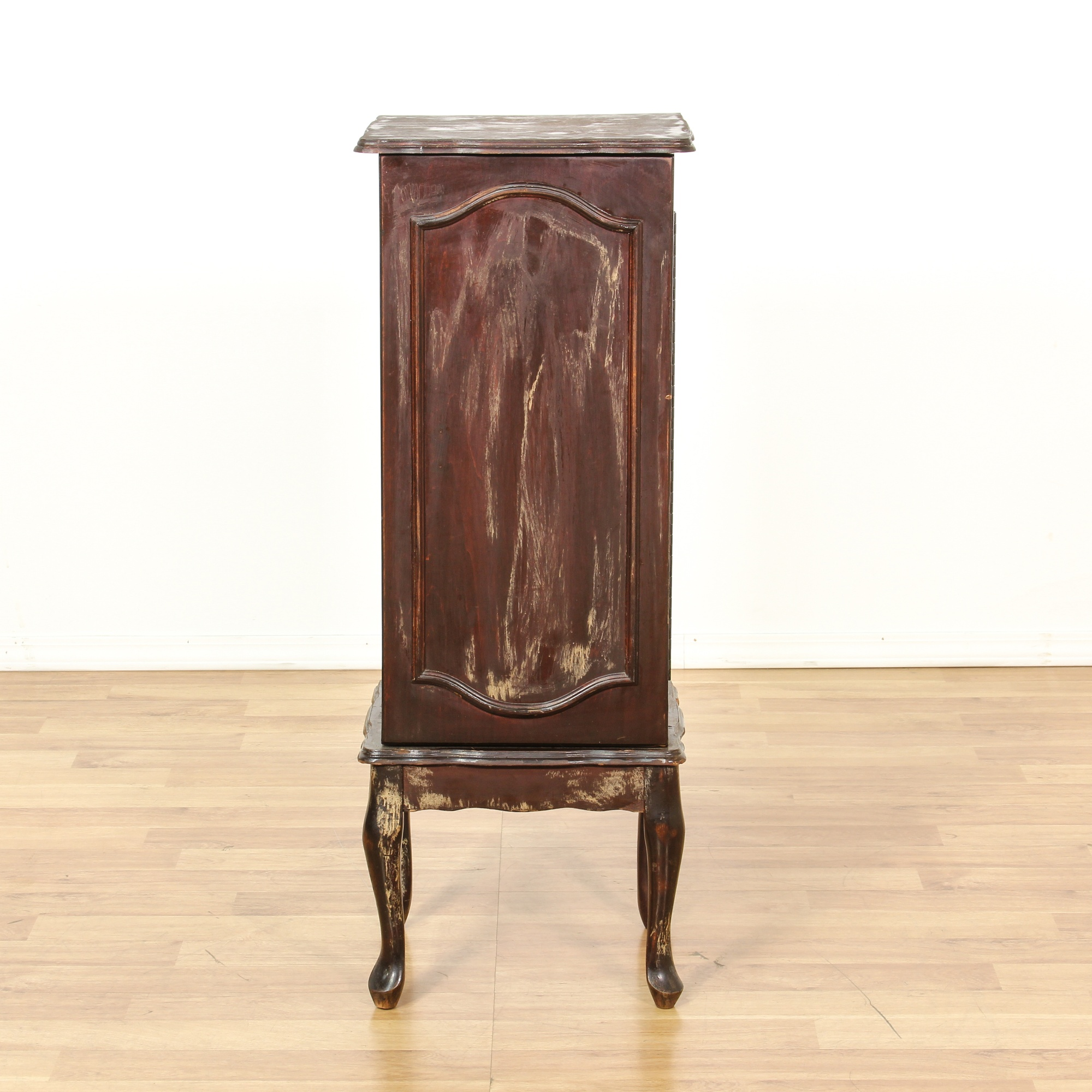 Distressed Jewelry Chest Armoire