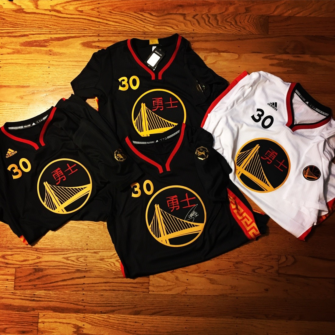 best service 182b1 75c5e Stephen Curry Authentic Chinese New Year Jerseys   Collectionzz