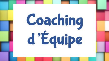 Représentation de la formation : Animer la 1ère session d'une demande de Coaching d'équipe