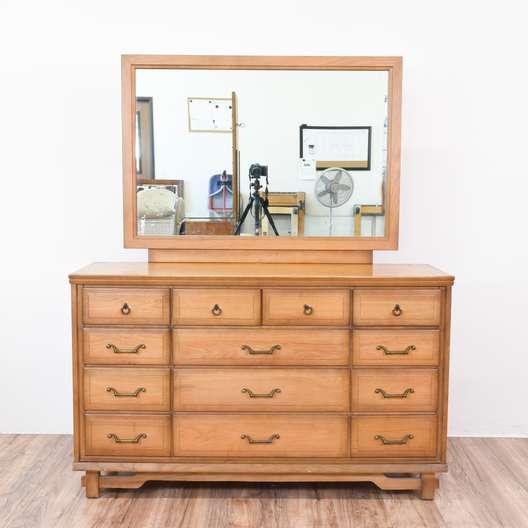 White shabby chic 4 drawer dresser loveseat vintage - Sumter cabinet company bedroom furniture ...