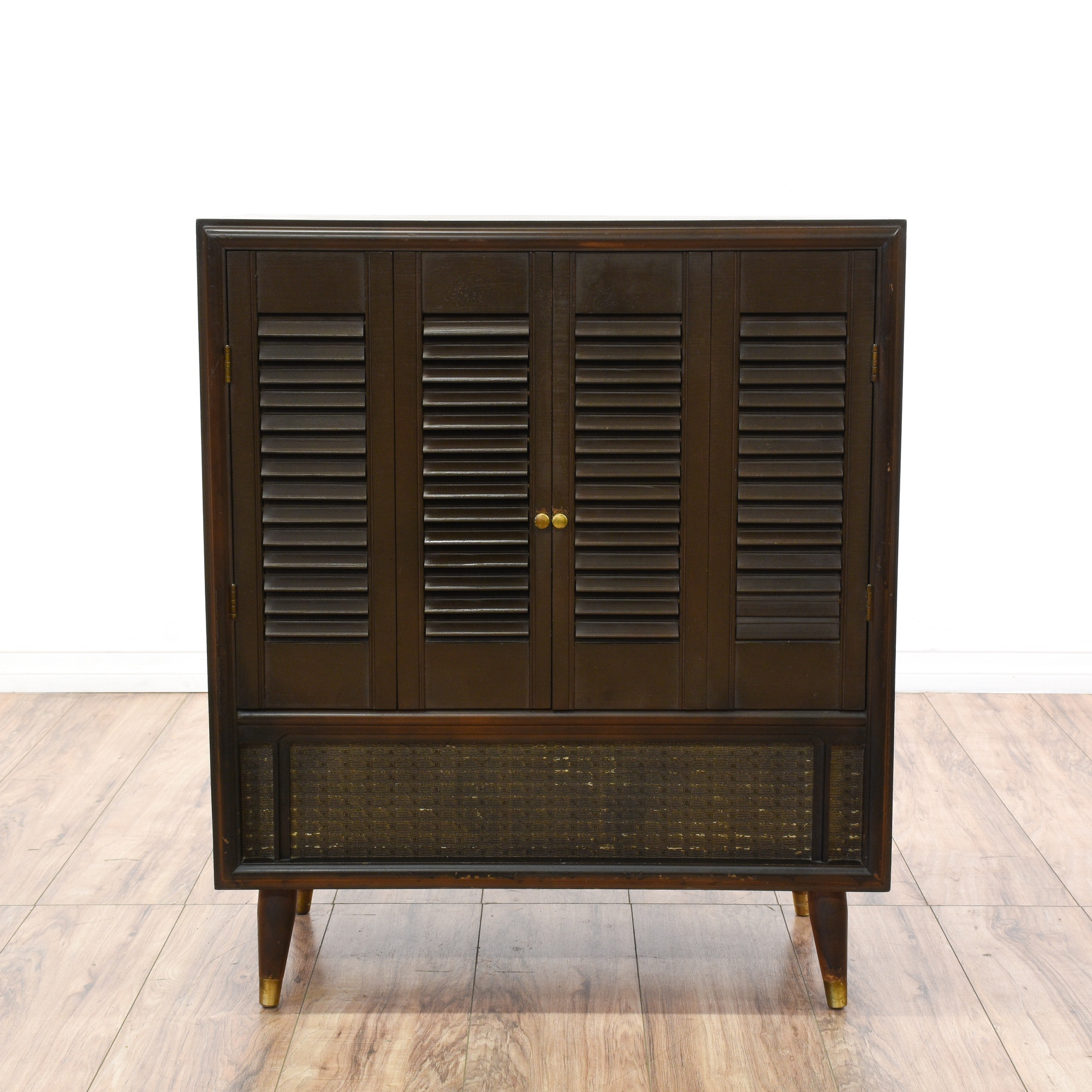 mid century modern shutter front cabinet loveseat vintage furniture san diego los angeles. Black Bedroom Furniture Sets. Home Design Ideas
