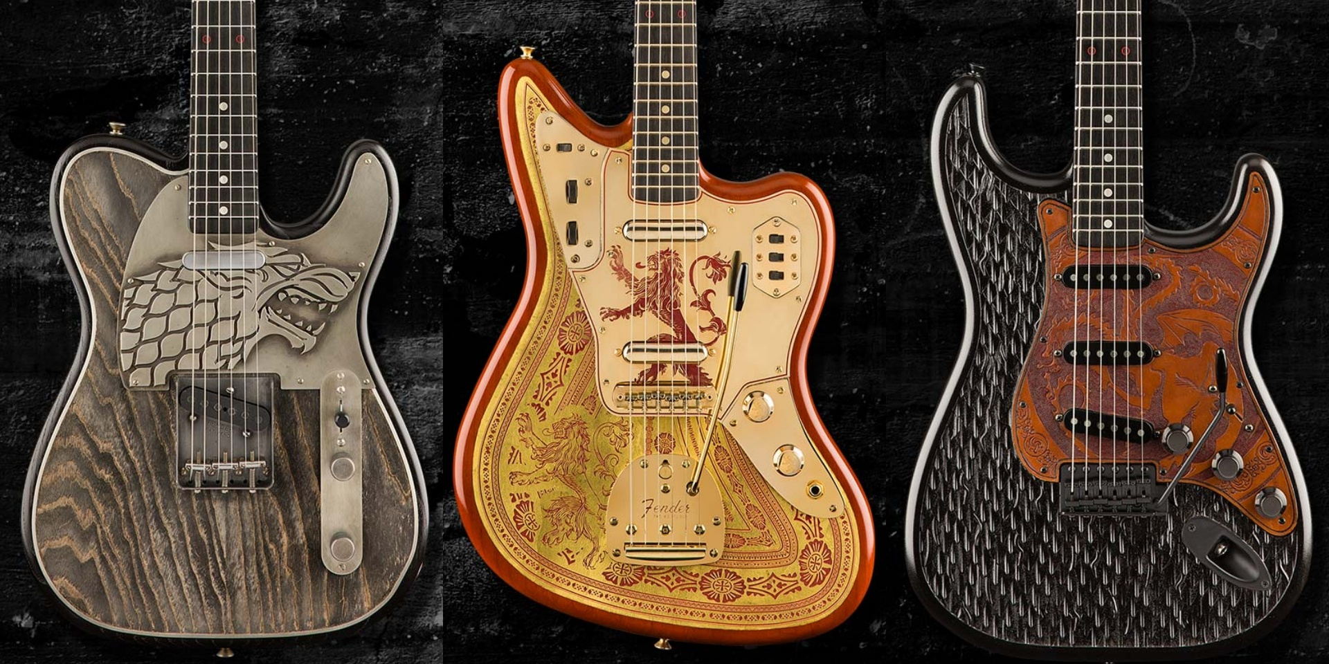Fender releases 3 Game Of Thrones-themed guitars with the Sigil Collection